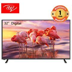itel 32 inch Digital LED TV HD Crystal Clear Screen D3210AE black 32 inch