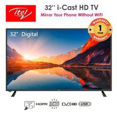 itel 32 inch Digital TV i-Cast HD TV S3210AE black 32 inch