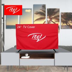 itel 24 inch TV Dust Proof Cover Red