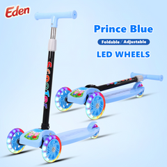 Best Quality Kids Scooter Children Outdoor Toys Cool Flashing LED Wheels Handle Adjustable Foldable BLUE