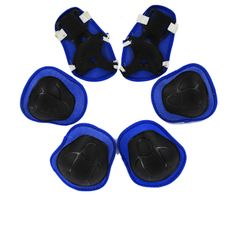 6PCS Set Kids Protective Gear Knee Pads Elbow with Wrist Guards Skating Cycling Bike Scooter BLUE