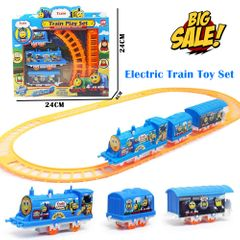 Battery-powered Model Train Set For Kids Classic Electric Toys City Cargo Toddler Christmas Gifts As Picture