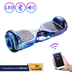 LED Wheels Hoverboard Self Balancing Scooter Hover Board with Bluetooth Speaker Lights Adult Kids BLUE 6.5''