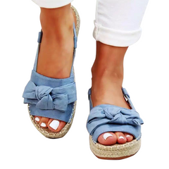 HOT SALE Womens  Flats Sandal For Summer Shoes New Arrival Woman Sandals Mujer BLUE 39