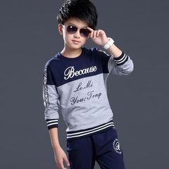 Boys Sport Casual Sets Autumn Children Clothing gray 140cm/9-10yrs