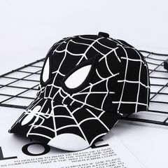 Anime Spiderman Cartoon Embroidery Cotton Children's Baseball Caps black