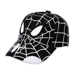 2021 New Year gift Anime Spiderman Cartoon Embroidery Cotton Children Boy Girl Kids Baseball Caps black