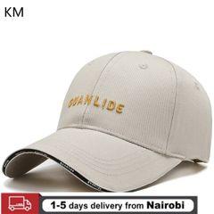 KM Men and Women Outdoor Hat Autumn Wild Casual Sunscreen Baseball Cap Cotton Breathable Cap cream color Adjustable