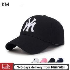 KM 2020new MY 3D Three-dimensional Embroidery Dad Hat Men's Summer Fashion Baseball Cap Visor Hat black Adjustable