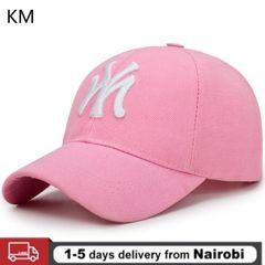 KM 2020new MY 3D Three-dimensional Embroidery Dad Hat Men's Summer Fashion Baseball Cap Visor Hat PINK Adjustable