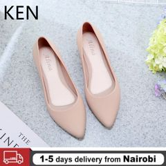 New Pointed Flat Bottom Breathable Soft Bottom Comfortable and Versatile Women's Shoes Sandals Apricot 39