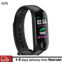 Smart Watch M3 Plus Sphygmomanometer Heart Rate Fitness Tracker Smart Bracelet Waterproof black One size