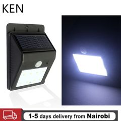 KEN 20 LED Light Solar PIR Night Always On Light Waterproof Fence Terrace Security Wall Light Night black 124mm 0.55w