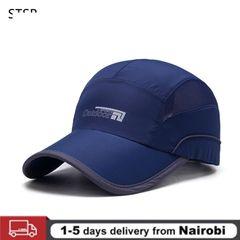 Fashion Quick Drying Summer Baseball Cap Men Bone  Breathable Women Snapback Sun Cap For Summer Hats Navy blue one size