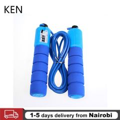 Jump Ropes Foam Handles Sport Fitness Adjustable Skipping Wire Kids Men Women Weight Loss Jump Ropes Blue one size