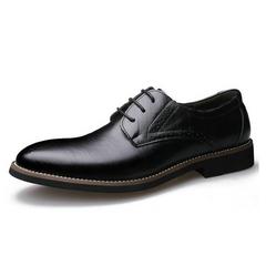 2020 Black Friday Hotsale Men's  Leather Shoes black blue brown Men's Oxford Official Shoes Casual Shoes