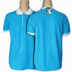 New Fashion Multi-color Men's short Sleeve Polo Shirts Sport Casual Polo T-shirt blue&white s cotton/polyester