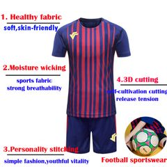 Men's Sportswear Suit Quick-drying Running Football T-shirt + shorts Tracksuit Jogging Fitness as picture m