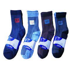 12 Pairs Men's Long Socks Natural Grace Black/Grey/coffee/dark gray Cotton Breathable Socks as picture (12 pairs) long socks