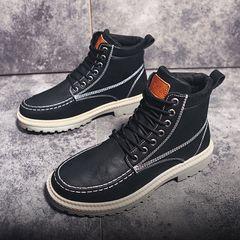 shoes comfortable and versatile fashion men's boots high top fashion Work Boots Men's fashion shoes black 43