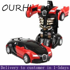Toy Car Deformation Robot Toys Girl Boy Kids Children Toy Remote Control & Play Vehicles Red onesize