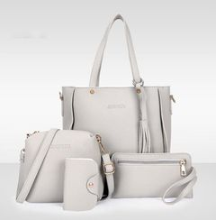 BagsClutch Bags Women's Bags Ladies Bag Tassel Boutique Four-piece Set Of Mother And Bags Gray