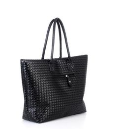 Fashion Bag Female Bag Women's Bags  Woven Bag Shoulder Casual Bag Big Bag ladies bag Clutch Bags Black