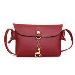 Women's bags women's bags fashion bags shoulder bags mini bags PU leather fawn bags Red