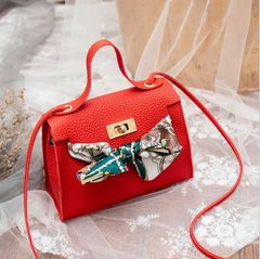 Bags Clutch Bags Women Bags Silk Scarves Handbags Shoulder Messenger Bags Fashion Women Bags Red