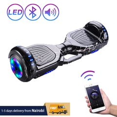 Hoverboard Self Balancing Scooter with Music Speaker LED Lights 6.5 inch Kid Adult Hoverboard black 6.5 inch