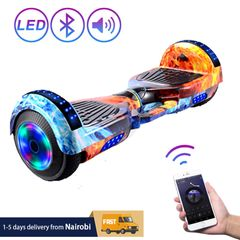 Hoverboard Self Balancing Scooter with Music Speaker LED Lights 6.5 inch Kid Adult Hoverboard Ice Flame 6.5 inch