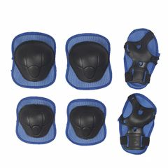 6PCS Set Kids Pad Set Knee Pad Wrist Pad Bike Skateboard Protective Gear Set Safety Pad Scooter BLUE 6PCS