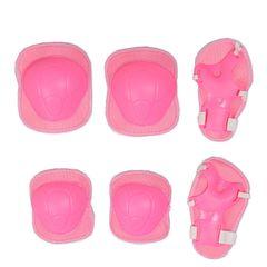 6PCS Set Kids Pad Set Knee Pad Wrist Pad Bike Skateboard Protective Gear Set Safety Pad Scooter pink 6PCS