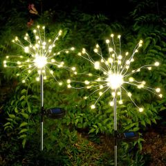 Solar Panels LED Lights Outdoor Waterproof  Decoration Party Supplies Valentine Gifts Bargains warm color one size