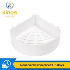 Kitchen Bathroom Shelf Racks for Wall-mounted Perforated Storage Racks Bath Fixtures Bargains White