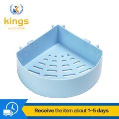 Kitchen Bathroom Shelf Racks for Wall-mounted Perforated Storage Racks Bath Fixtures Bargains Blue