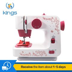 Portable Electric Sewing Machines Both Battery And Power Supply12-pin 2-speed Ironing & Pressing RED