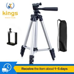 1.1M Phone Digital Camera Tripod Stands Phone Stable Selfie Projector Accessories Parts silver One size