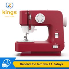 Multi-function needle sewing machine double-thread CD loom speedless red Ironing & Pressing RED