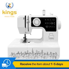 Sewing Machine for Beginners with 12 Stitches & Free Arm, Portable & Lightweight Ironing & Pressing Black