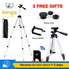 1.1M Phone Digital Camera Tripod Stands Bluetooth Remote Shutter Stable Selfie Projector Accessories silver One size