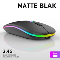 USB charging Wireless Mouse ultra thin computer mouse game mouse pc notebook computer wireless mouse Frosted black 11*5.7*2.2cm