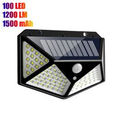 Solar Light 100 LED Security Motion Sensor Wall Lights Outdoor Waterproof for Garden Fence Patio Black 100LED