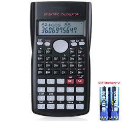 Portable Scientific Calculator School Office Stationeries Multifunction Stationery Scientific Tool Black