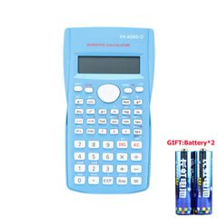 Portable Scientific Calculator School Office Stationeries Multifunction Stationery Scientific Tool Blue