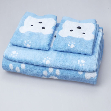 4PCS/Lot 100% cotton yarn dyed quick-dry jacquard solid Wash towel + hand towel + bath towel house gife set