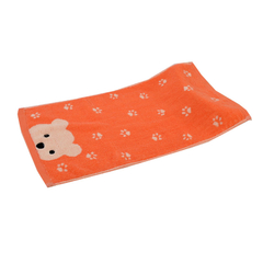 25*50cm 100% cotton yarn dyed quick-dry jacquard solid  Orange Wash towel house gife