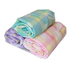 70*140cm 100% Cotton Knitted Yard Dyed Green Bath Towel house gife