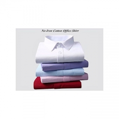 Mens FashionPlus 5 Pack Official Shirts - (White Blue Purple Red Pink) - Long Sleeve 100% Cotton white L