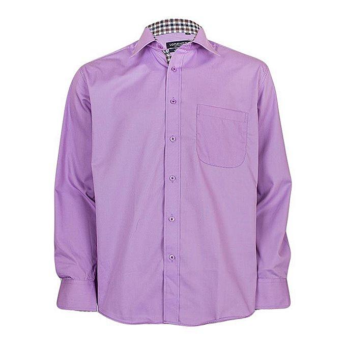 Shaphir Purple Button Down Shirt With Breast Purple xxl
